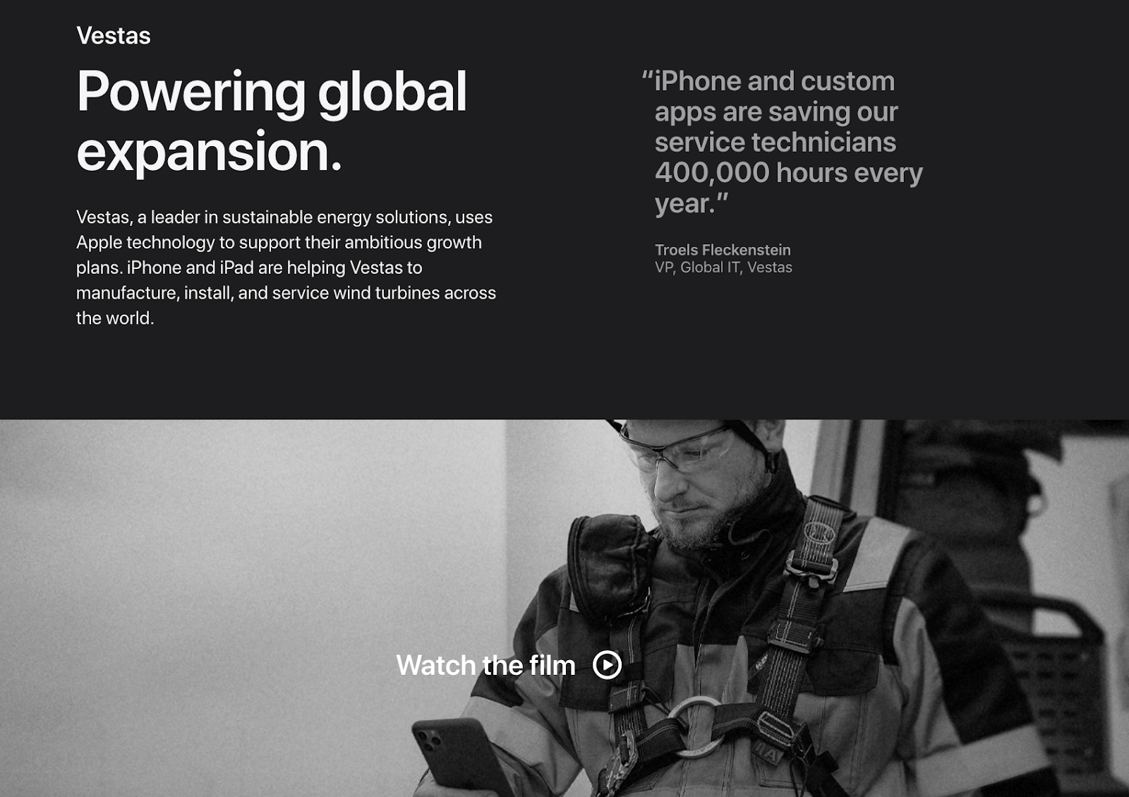 Apple Vestas case study