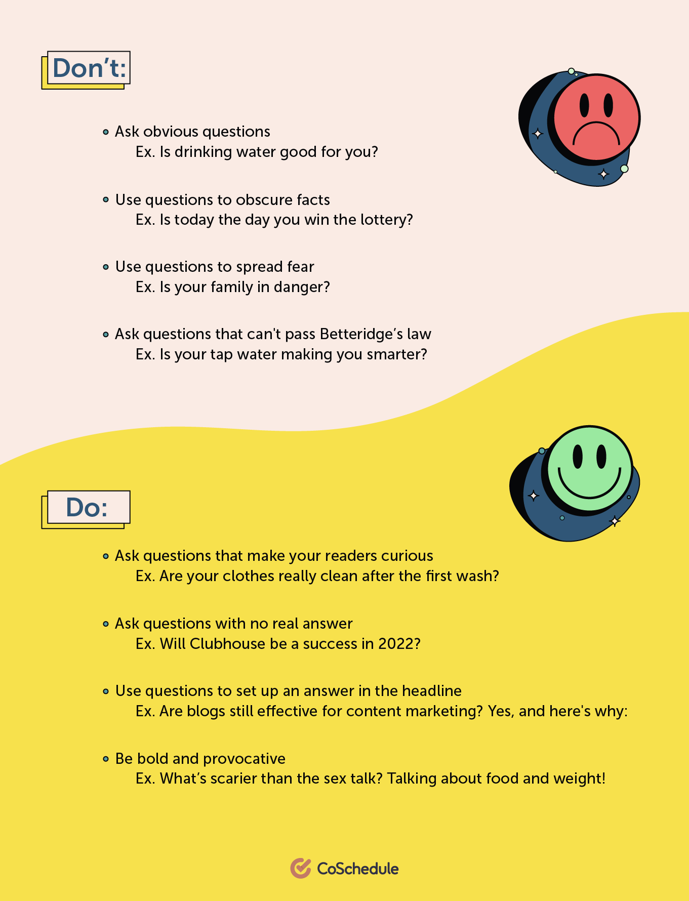 Do's and dont's of question headlines