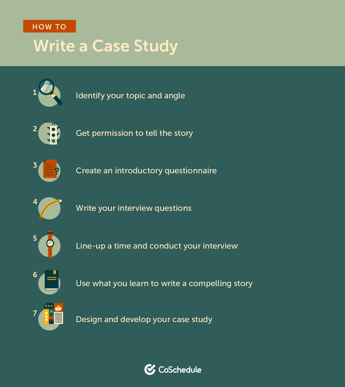 How to write a case study steps