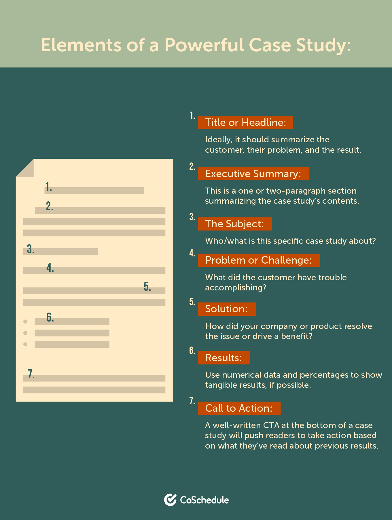 7 elements of a great case study