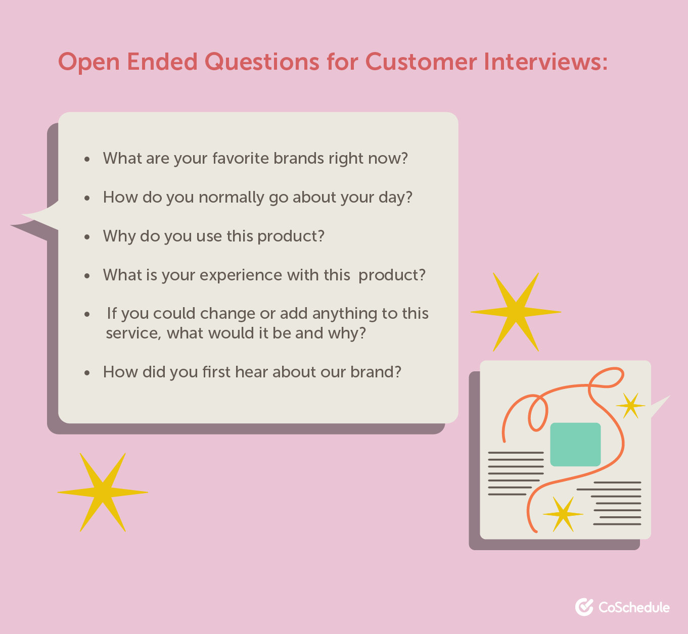 Open ended questions for interviews