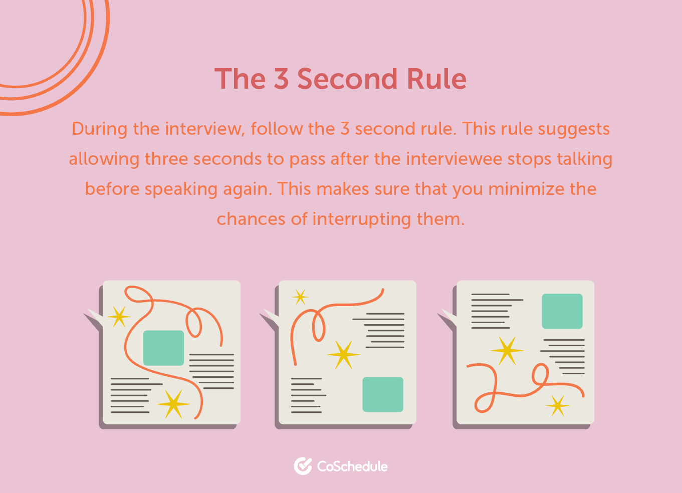 3 second rule for interviews