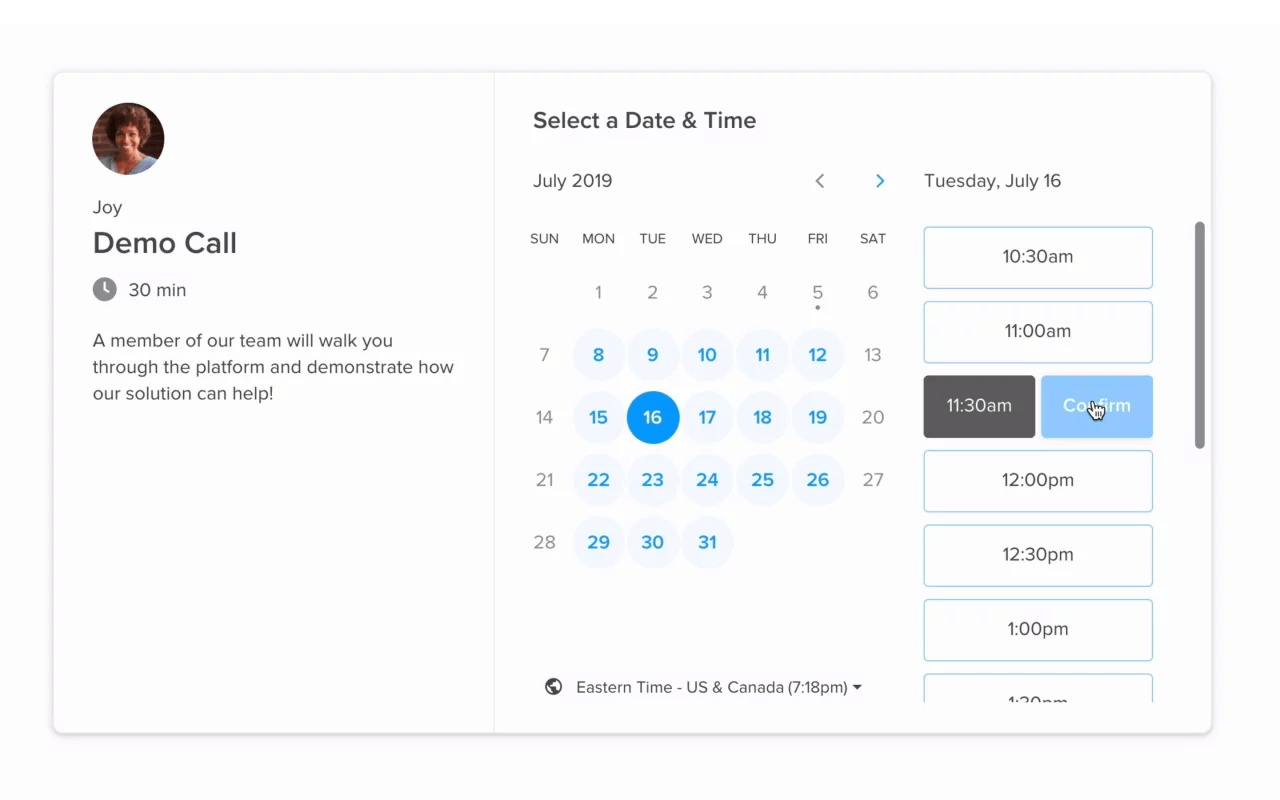 Schedule calls customer experience