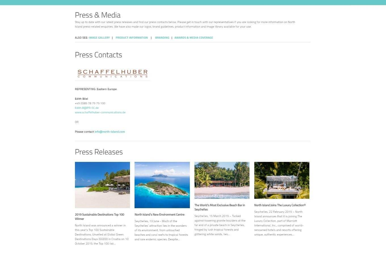 Travel company press page