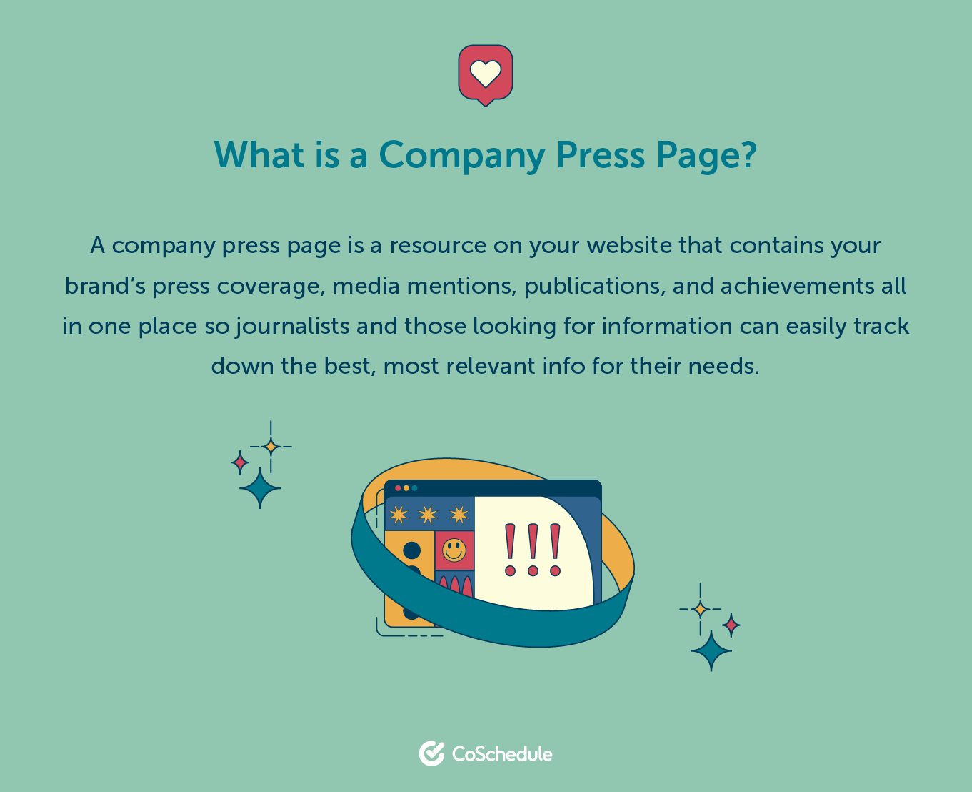 What is a company press page? definition