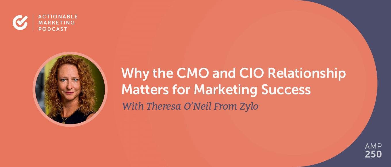 Why the CMO and CIO Relationship Matters for Marketing Success With Theresa O'Neil From Zylo [AMP 250]