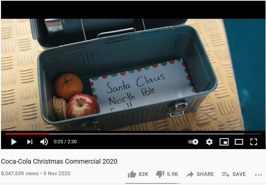 Coca Cola Christmas commercial 2020