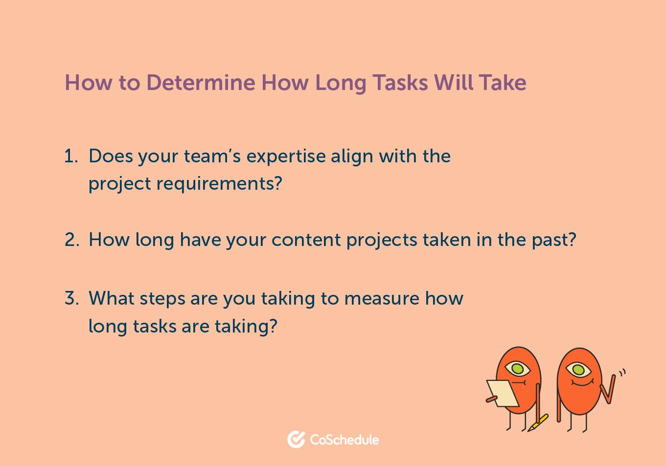 How to determine task length