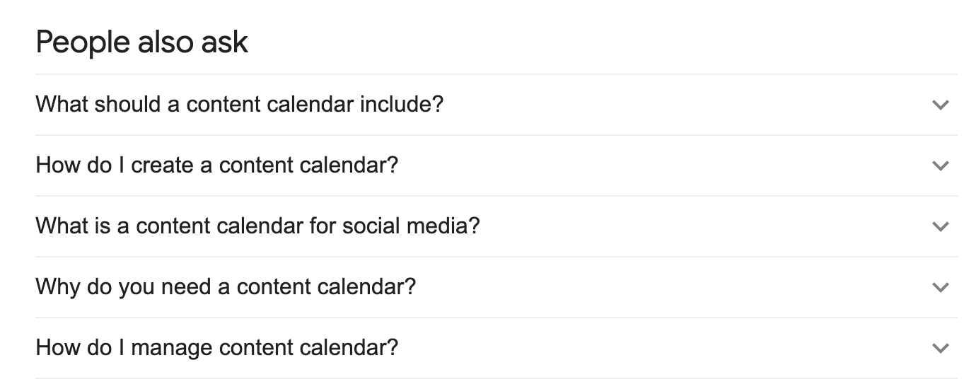 Google people also ask box