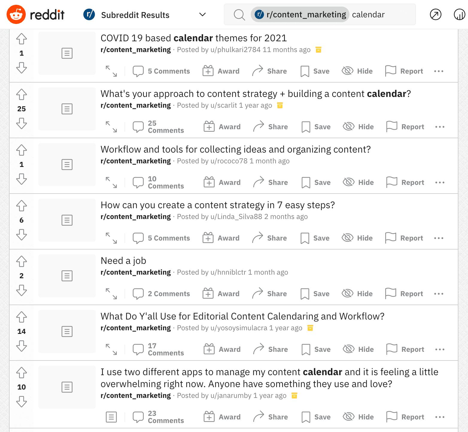 Keyword research on reddit