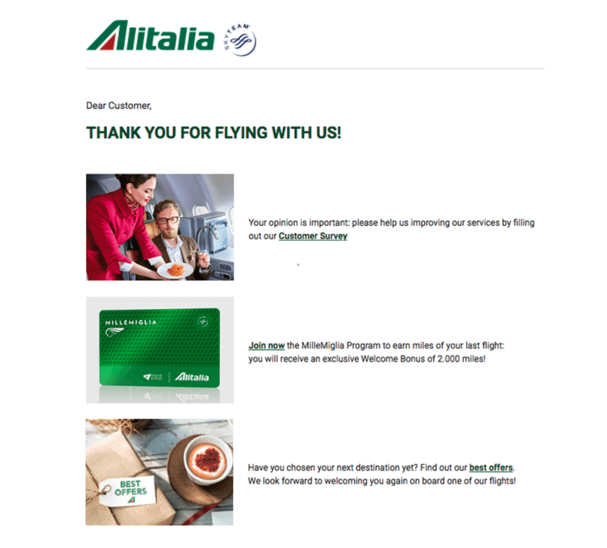 Alitalia quality email