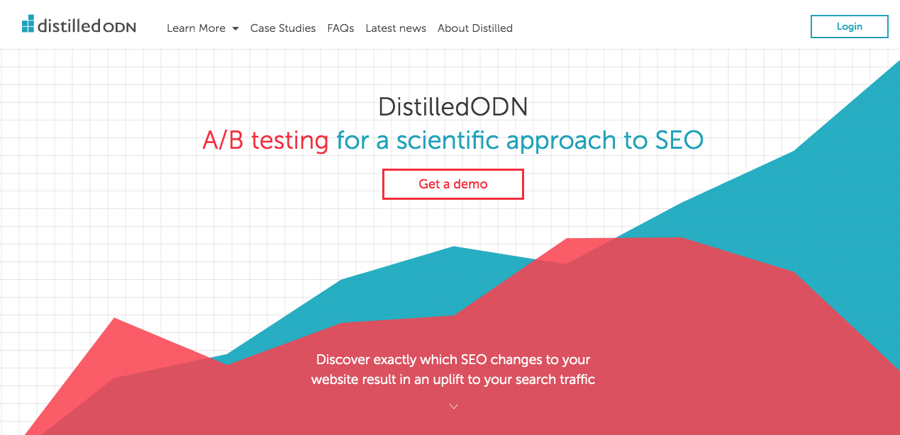 The Distilled homepage to run A/B tests on your writing