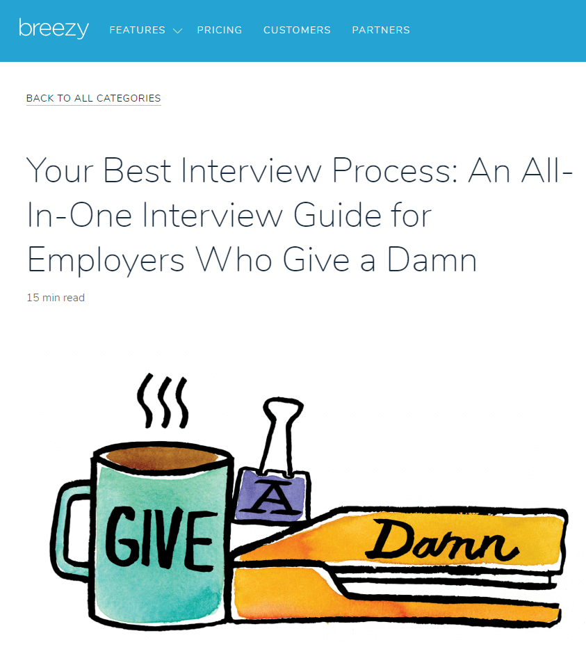 Blog post from Breezy about the best interview process