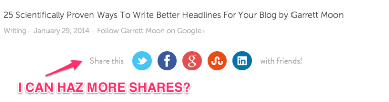 test your share buttons placement well.