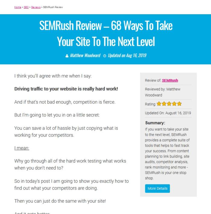 Matthew SEMRush Review