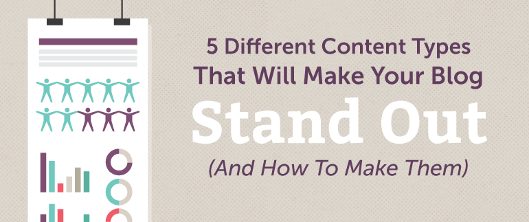5 Different Content Types That Will Help You Save Time Blogging