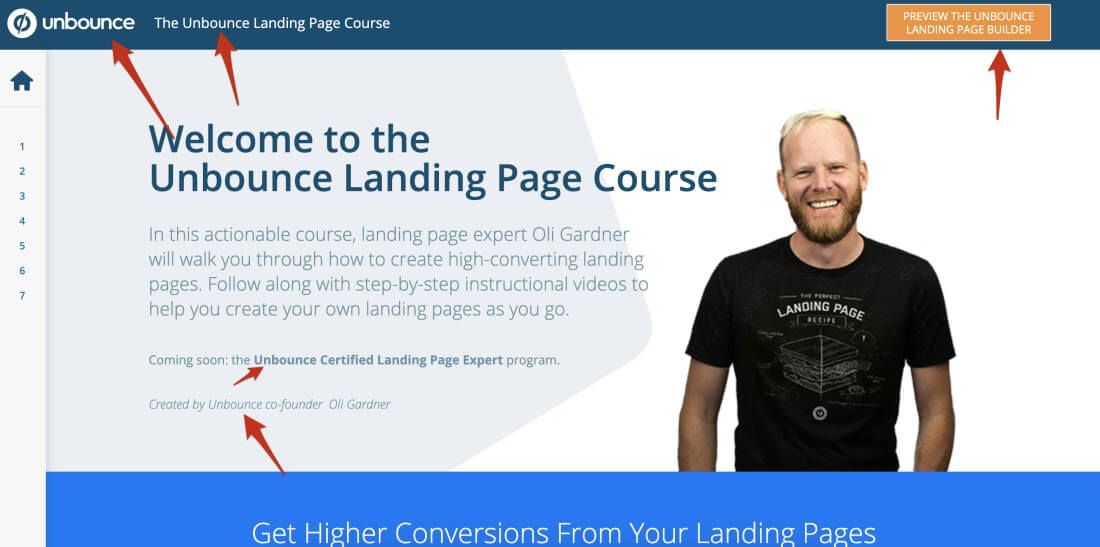 The landing page course for Unbounce