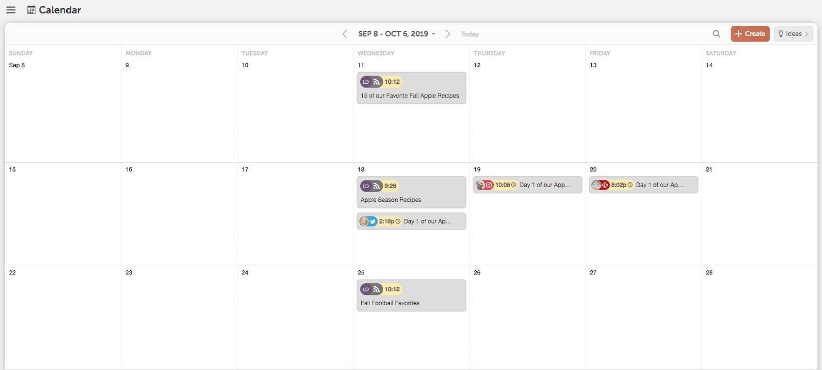 CoSchedule Calendar content planning