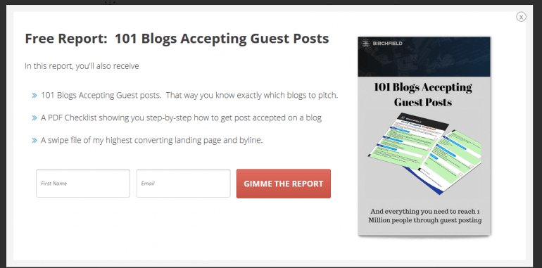 promote your blog with exit intent popups
