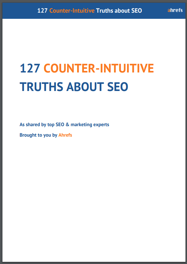 127 Counter-Intuitive Truths About SEO E-Book cover