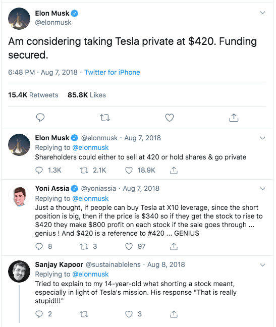 Elon Musk Twitter feed screenshot