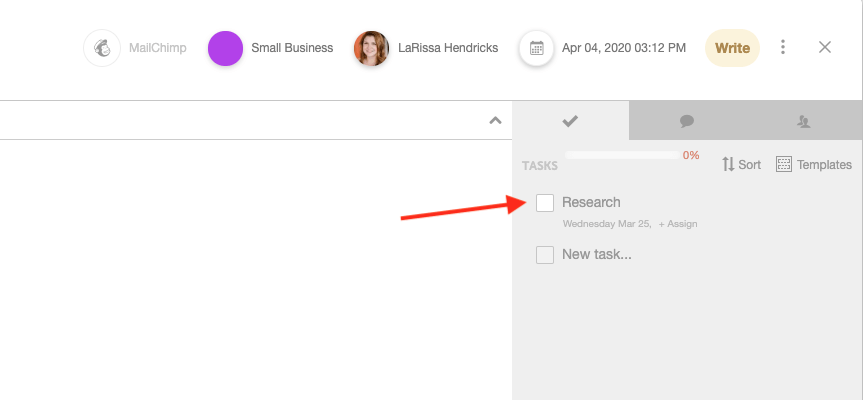 Assign individual tasks in CoSchedule