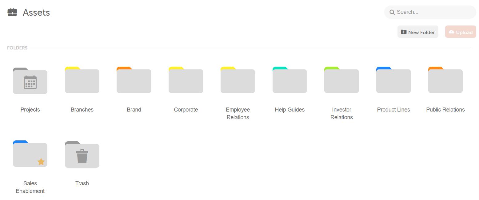 Color Labeled folders in the asset organizer