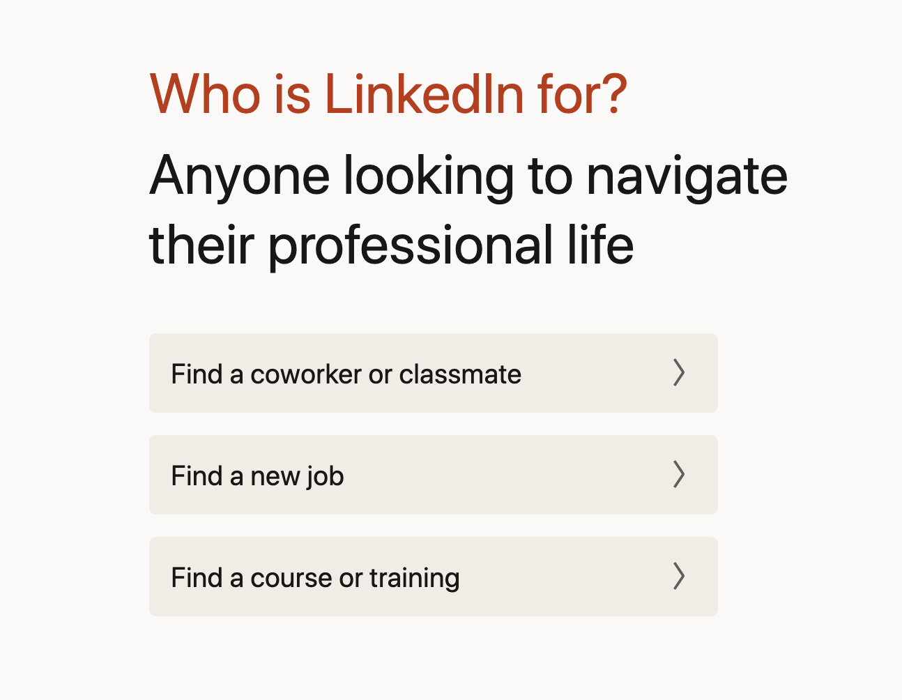 Who is LinkedIn for?