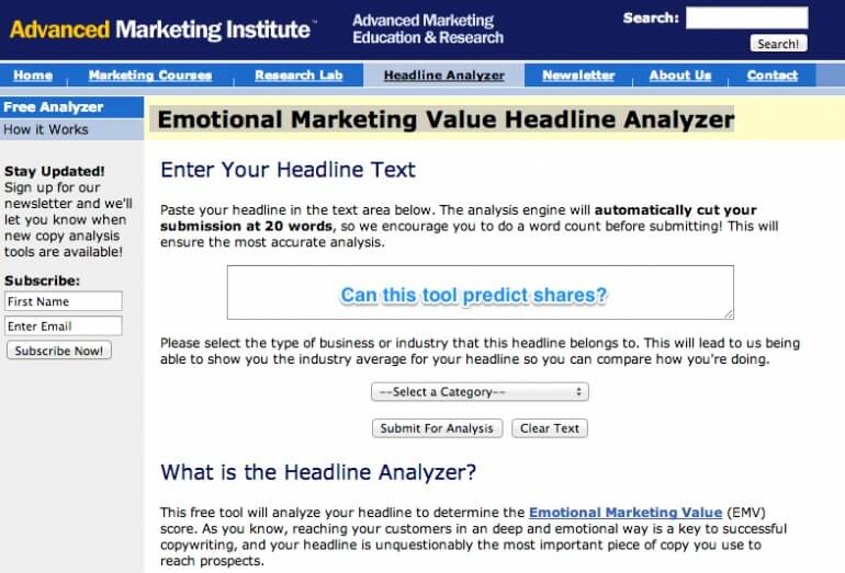 Emotional headlines analysis