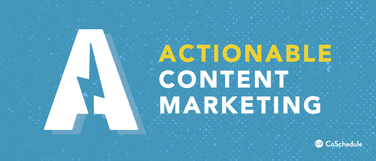 announcing the Actionable Content Marketing Podcast