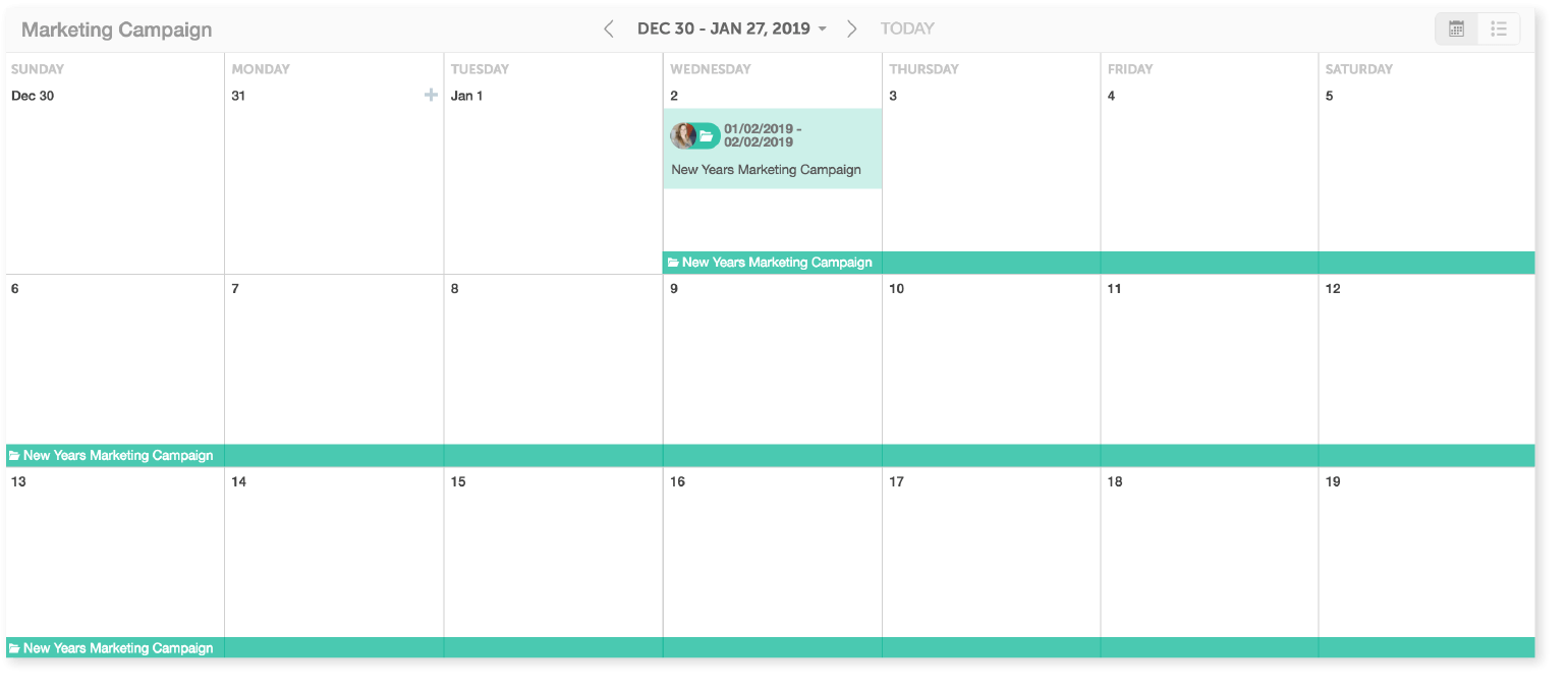 Calendrier Planning 2019.The Best 2019 Content Calendar Template Get Organized All Year