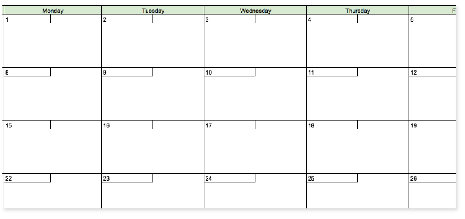 The Best 2019 Content Calendar Template Get Organized All Year