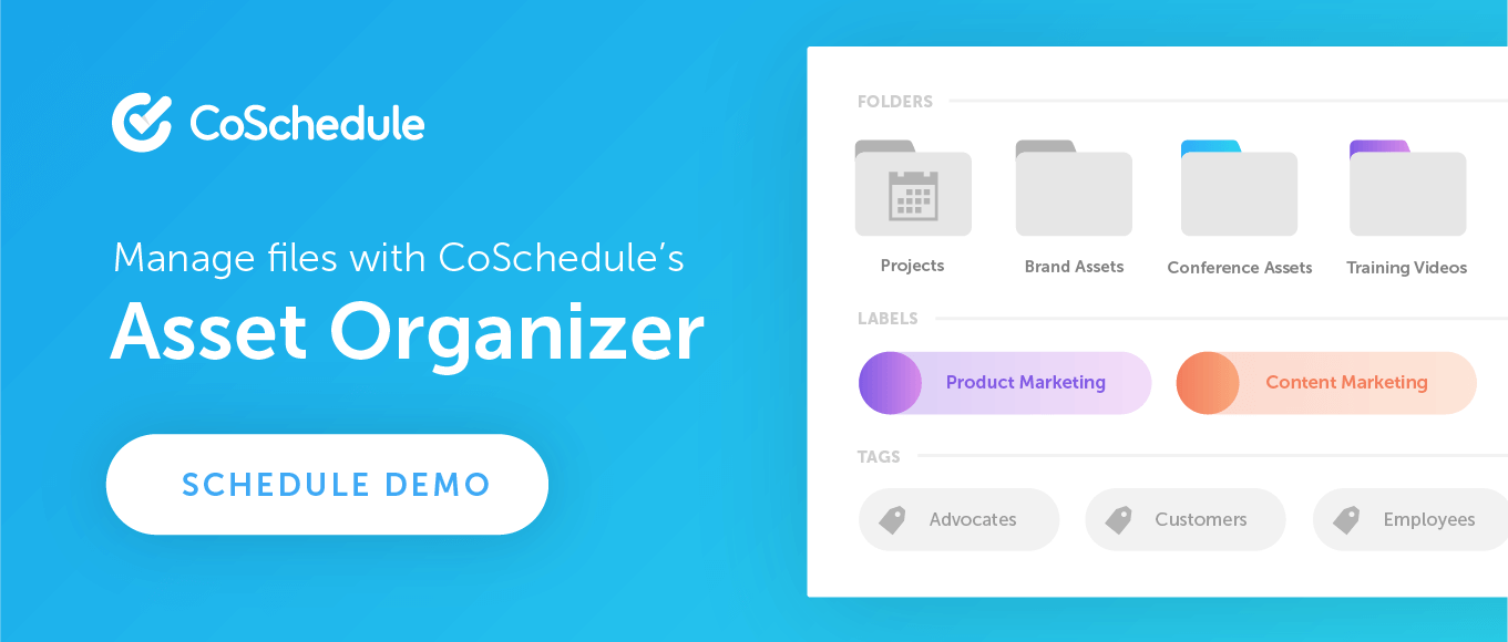 Manage Files With CoSchedule's Asset Organizer