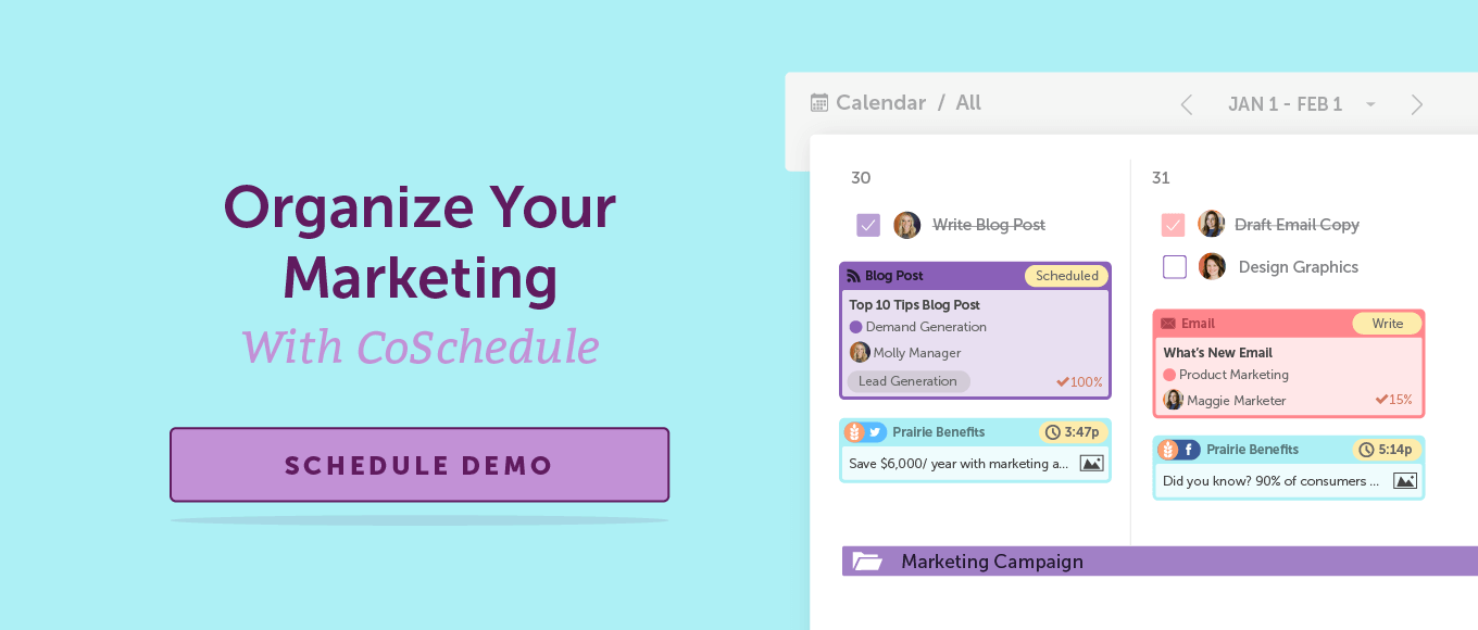 Organize Your Marketing With CoSchedule