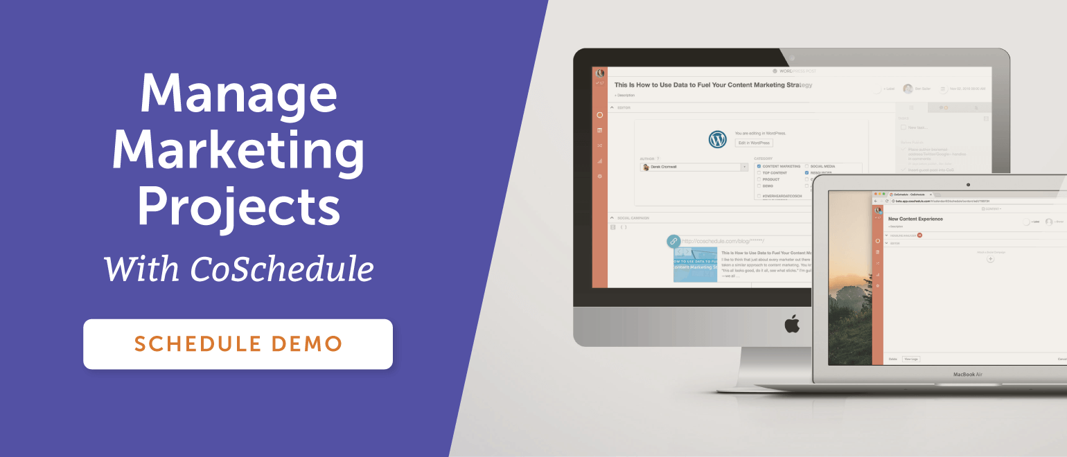 Manage Marketing Projects With CoSchedule