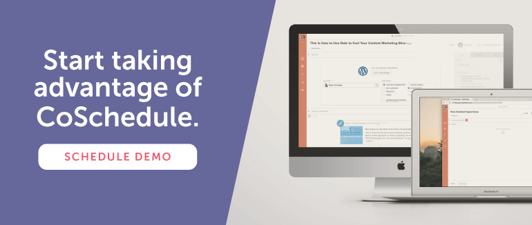 Sign up for a Team Pro demo with CoSchedule