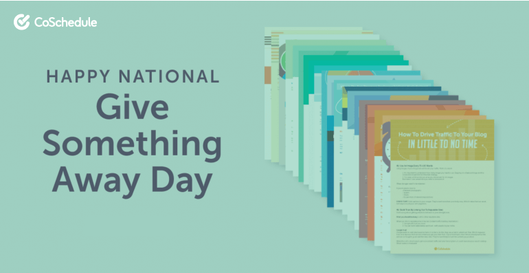 National Give Something Away Day.