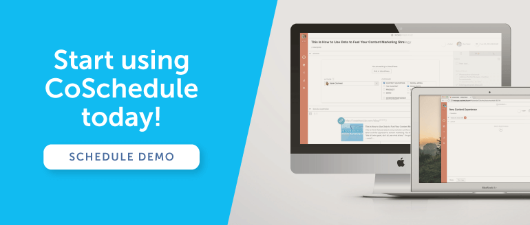Set up a demo with CoSchedule.