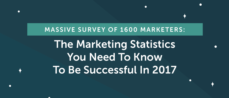 Massive Survey Of 1600 Marketers: The Marketing Statistics You Need To Know To Be Successful In 2017