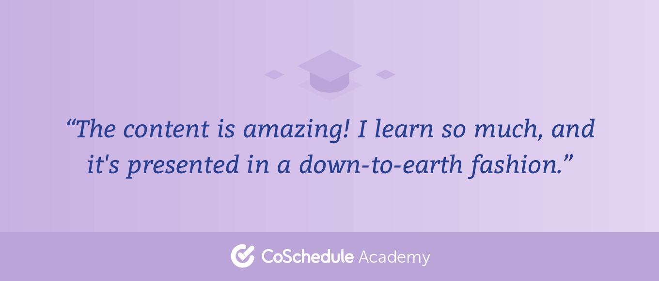 Academy User Quote