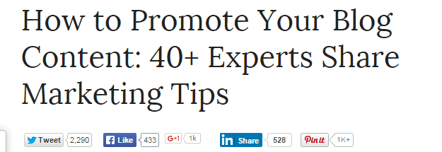 types of blog posts