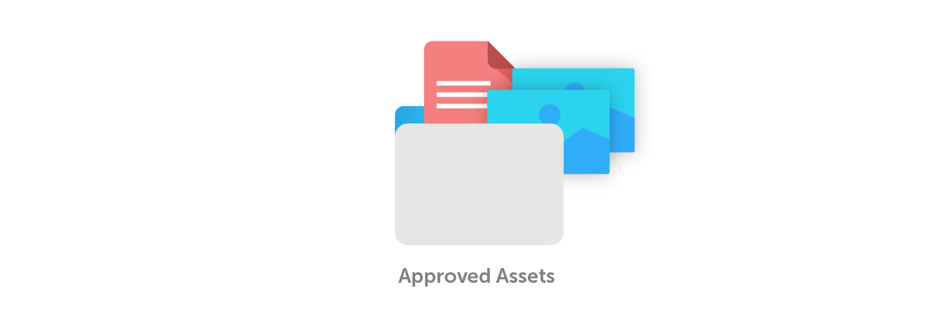 Approved assets folder graphic
