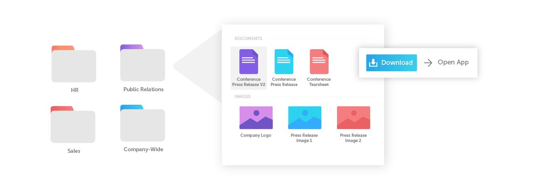 Brand portal folders graphic