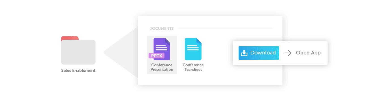 Sales enablement folder graphic