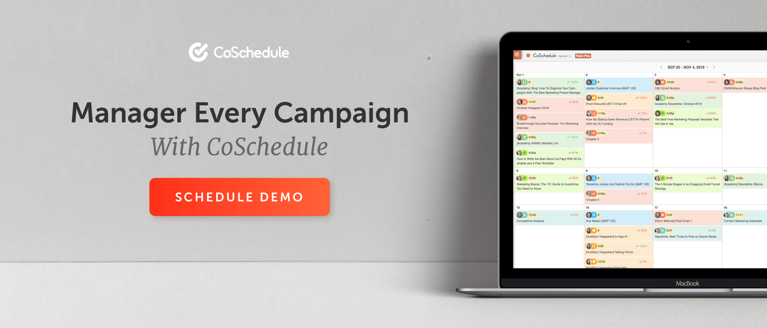 Manage Every Campaign With CoSchedule