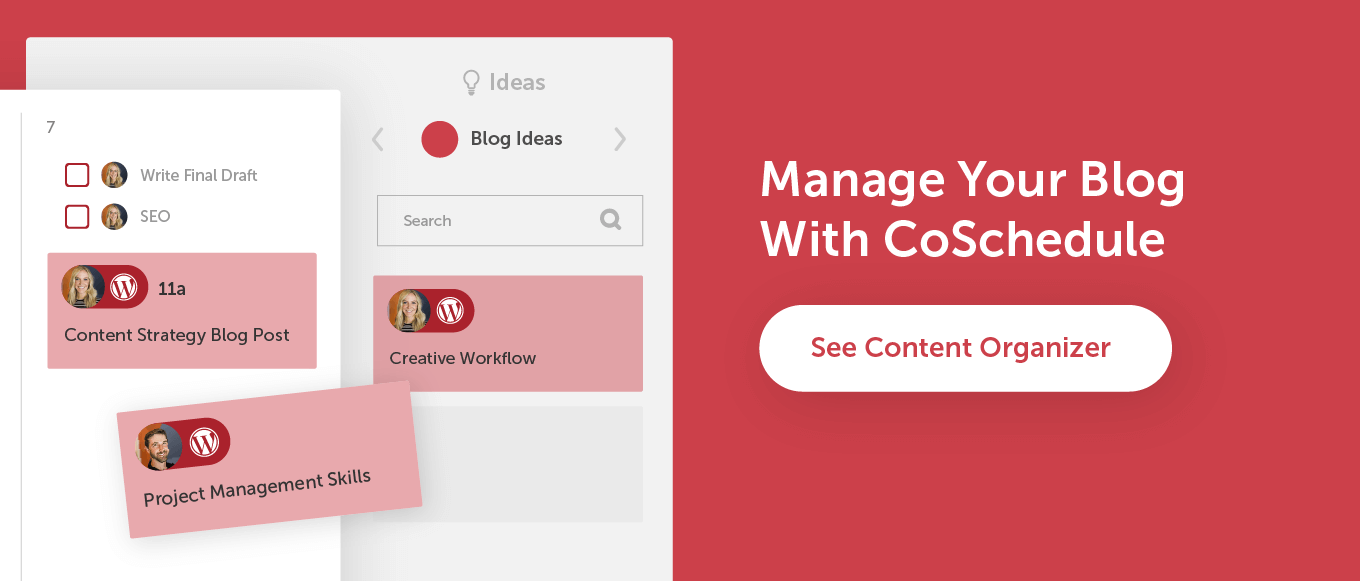 Manage your blog with CoSchedule