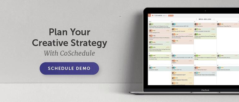 Schedule your demo of CoSchedule