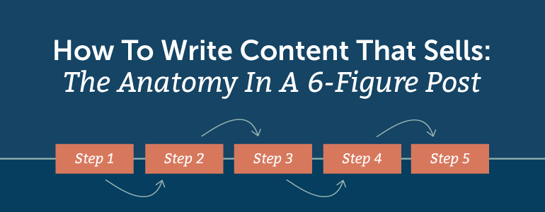 How To Write Content That Sells: The Anatomy In A 6-Figure Post