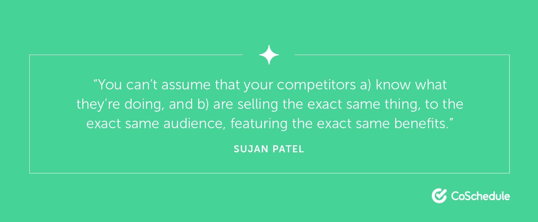 Sujan Patel Quote