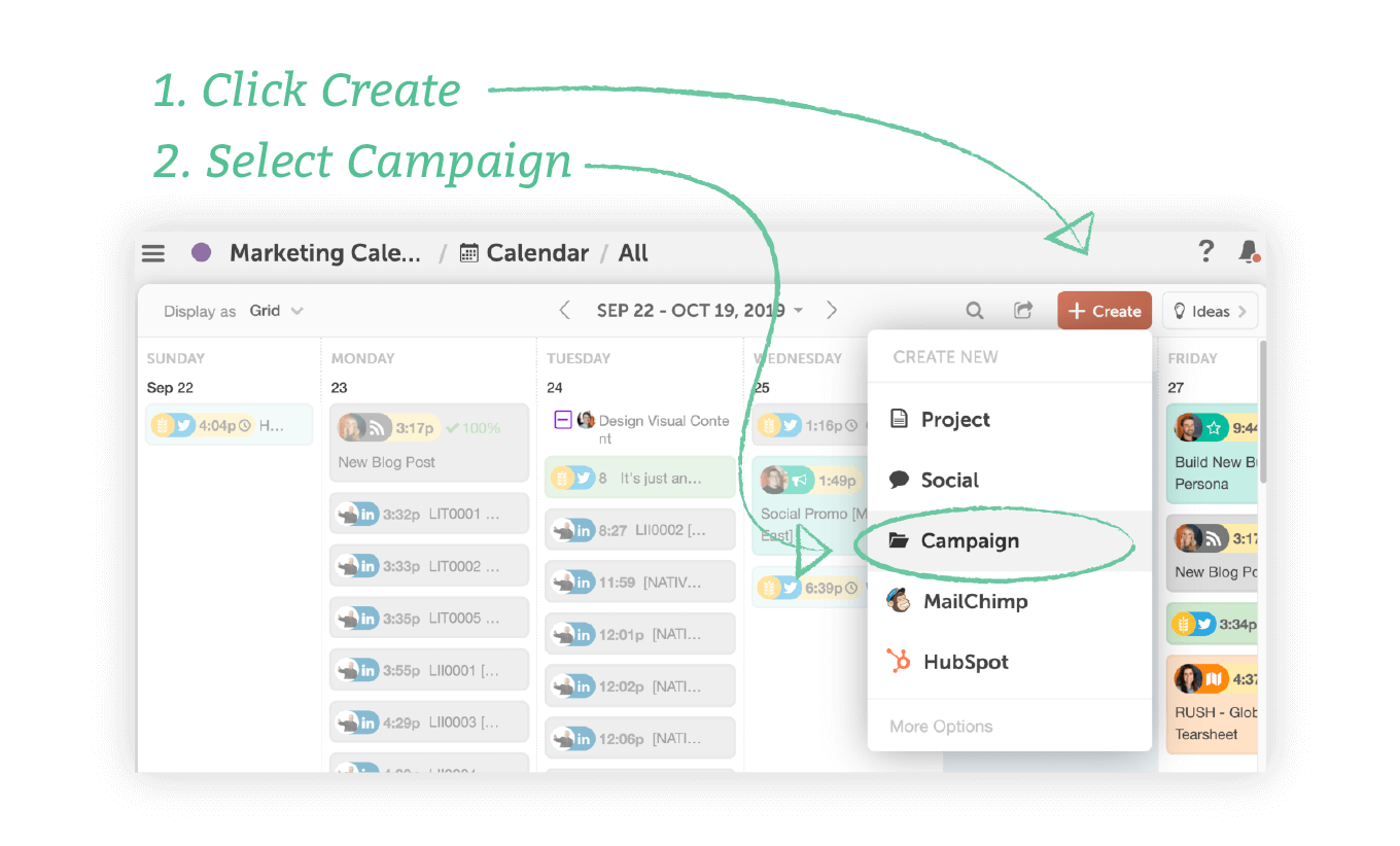 Create a Campaign in CoSchedule